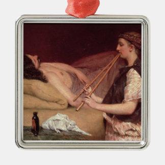 Alma-Tadema | la sièste, 1868 Ornement Carré Argenté