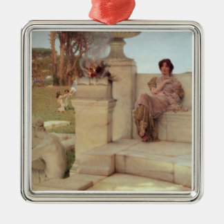 Alma-Tadema | la voix de Spring, 1908 Ornement Carré Argenté