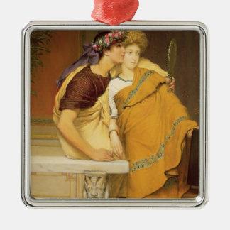 Alma-Tadema | le miroir, 1868 Ornement Carré Argenté