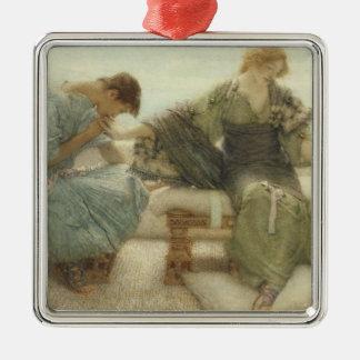 Alma-Tadema | ne me demandent pas plus, 1886 Ornement Carré Argenté