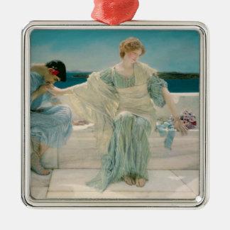 Alma-Tadema | ne me demandent pas plus, 1906 Ornement Carré Argenté