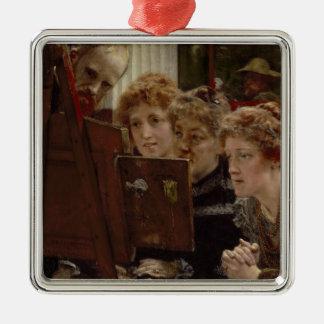 Alma-Tadema | par groupe de famille, 1896 Ornement Carré Argenté