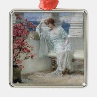 Alma-Tadema | ses yeux sont avec son thoughts� Ornement Carré Argenté