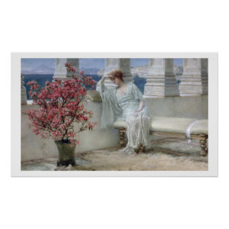 Alma-Tadema | ses yeux sont avec son thoughts� Poster