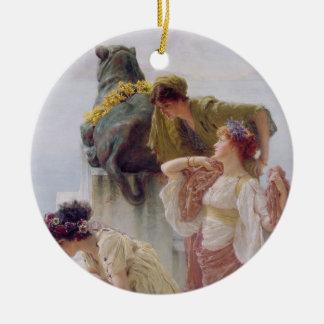 Alma-Tadema | un Coign d'avantageux, 1895 Ornement Rond En Céramique