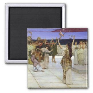 Alma-Tadema | un dévouement au Bacchus Aimant