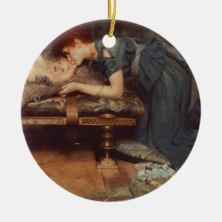 Alma-Tadema | un paradis terrestre, 1891 Ornement Rond En Céramique
