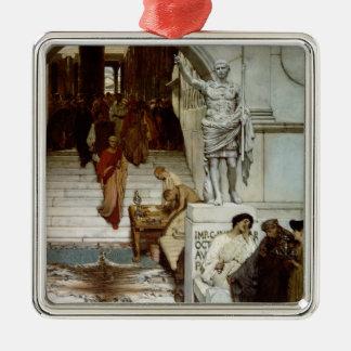Alma-Tadema | une assistance chez Agrippa, 1875 Ornement Carré Argenté