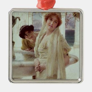 Alma-Tadema | une divergence de vues Ornement Carré Argenté
