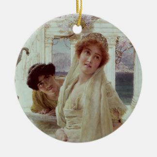 Alma-Tadema | une divergence de vues Ornement Rond En Céramique