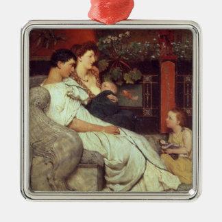 Alma-Tadema | une famille romaine, 1867 Ornement Carré Argenté