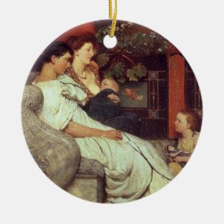 Alma-Tadema | une famille romaine, 1867 Ornement Rond En Céramique