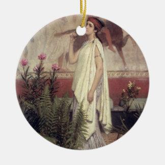Alma-Tadema | une femme grecque, 1869 Ornement Rond En Céramique