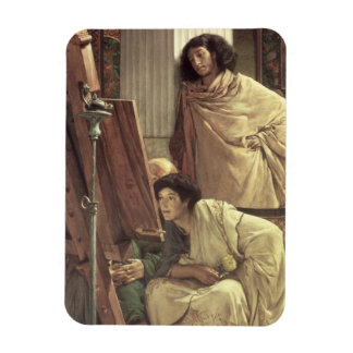 Alma-Tadema | une visite au studio, 1873 Magnet Flexible