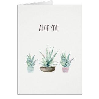 Aloès vous faites des calembours carte de