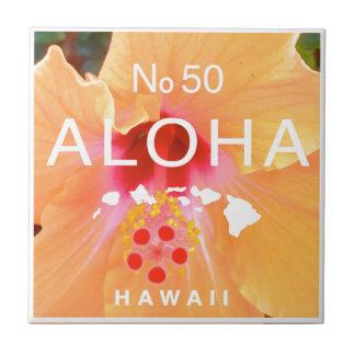 Aloha aucunes 50 ketmies oranges petit carreau carré