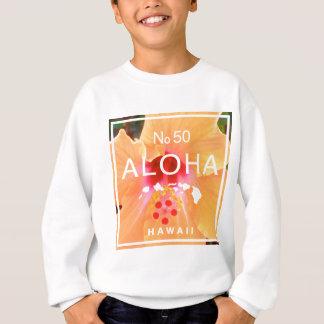 Aloha aucunes 50 ketmies oranges sweatshirt