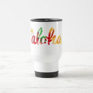 Aloha avec une tasse jaune de plumeria
