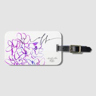 Aloha bagage d'orchidée/étiquette de sac étiquettes bagages