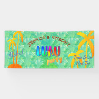Aloha bannière Kitschy de partie de Luau d'ananas