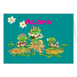 Aloha - carte d'anniversaire