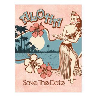 Aloha carte postale de la fille de danse polynésie