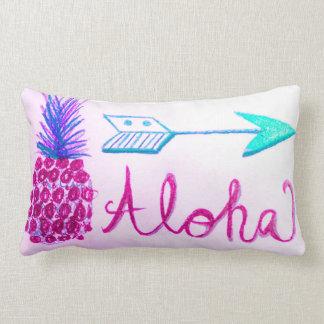 Aloha coussin de décor de conception d'étroit