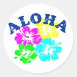 Aloha cru adhésifs ronds