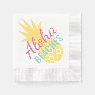 Aloha échoue l'ananas tropical de | serviette en papier