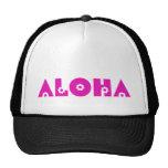 Aloha en fleurs roses casquette de camionneur