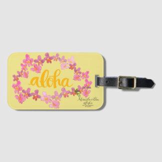 Aloha étiquette audacieuse de sac de Lei Étiquettes Bagages