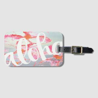 Aloha étiquette de bagage de Plumeria Étiquettes Bagages