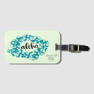 Aloha étiquette de sac de Lei de Plumeria Étiquettes Bagages