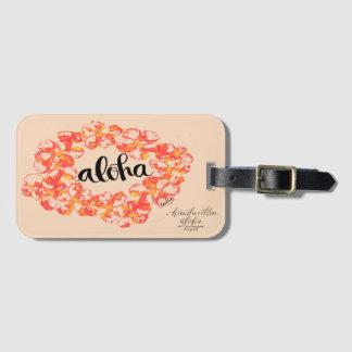 Aloha étiquette de sac de Lei de Plumeria - orange Étiquette Pour Bagages