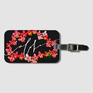 Aloha étiquettes de bagage de Lei d'orchidée Étiquette Pour Bagages