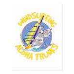 Aloha faire de la planche à voile de troncs cartes postales