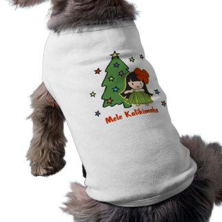Aloha fille de danse polynésienne hawaïenne de t-shirt pour chien