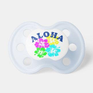 Aloha fleurs hawaïennes colorées de tétine vintage