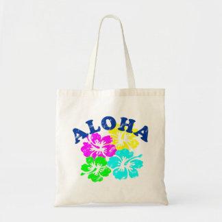 Aloha fleurs vintages colorées de Hawaïen de sac