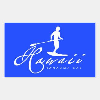 Aloha Hawaï se tiennent barbotante Sticker En Rectangle