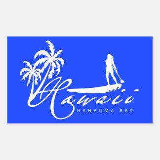 Aloha Hawaï se tiennent barbotante Stickers En Rectangle