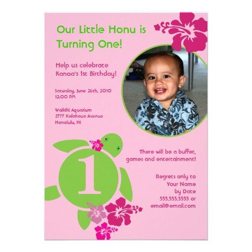 Aloha invitation faite sur commande d'anniversaire