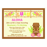 Aloha invitation mignonne de fête d'anniversaire d