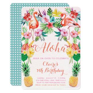Aloha invitation tropicale d'anniversaire