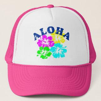 Aloha le Hawaïen coloré de casquette fleurit le