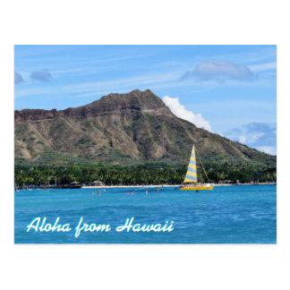 Aloha océan principal de plage d'Hawaï Duamond Carte Postale