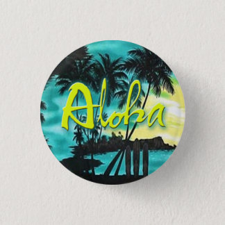 Aloha Pin de coucher du soleil d'Aqua Badge