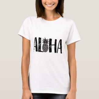 Aloha plage moderne d'ananas tropical t-shirt
