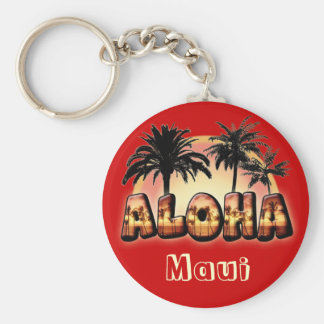 Aloha Porte-clé Rond