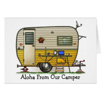 Aloha remorque de campeur M Carte De Vœux